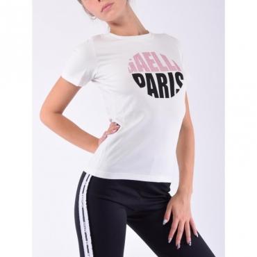 T-shirt tondo con strass OFF WHITE