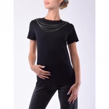 poly juice t-shirt borchie con catena NERO