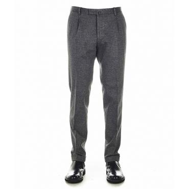 Pantaloni eleganti in jersey grigio