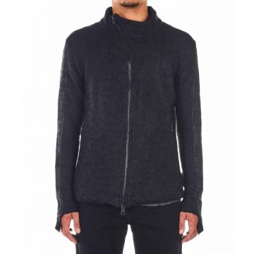 Giacca in lana con maniche strutturate nero