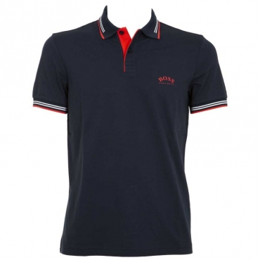 Polo in cotone stretch Paul 411NAVY