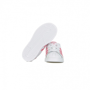 SCARPA BASSA SUPERSTAR EL I CLOUD WHITE/SUPER PINK/CORE BLACK