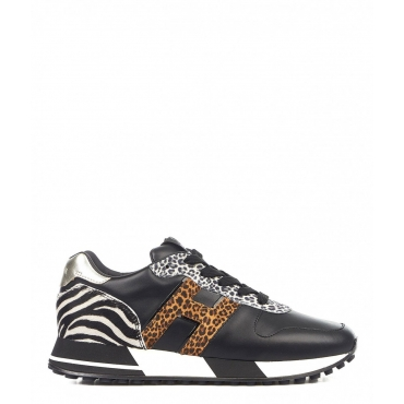 Sneakers in stampa animalier nero