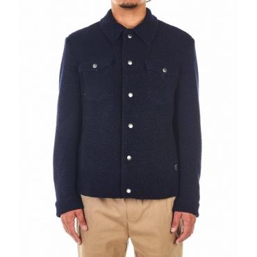 Giacca in lana blu scuro