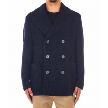 Giacca di lana blu scuro