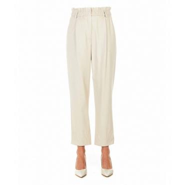 Pantaloni in eco pelle rosa chiaro