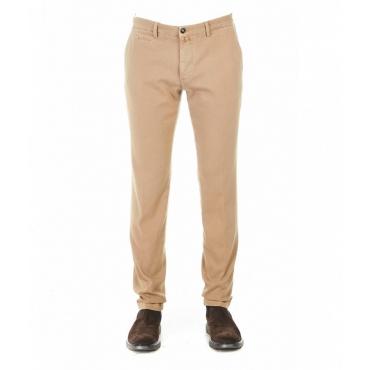 Pantalone chino con strutturta beige