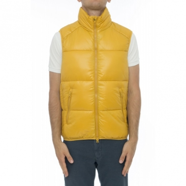 Piumino - D8806m lucky gilet laccato 0075 - Mustard Yellow
