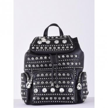 Mirror backpack zaino strass BLACK