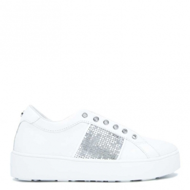 Sneakers Sol bianca con fascia argento WHITE/SILVER