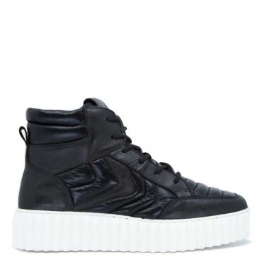 Sneakers alta Flam nera NERO