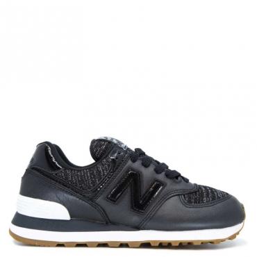 Sneakers 574 nera con logo vernice BLACK