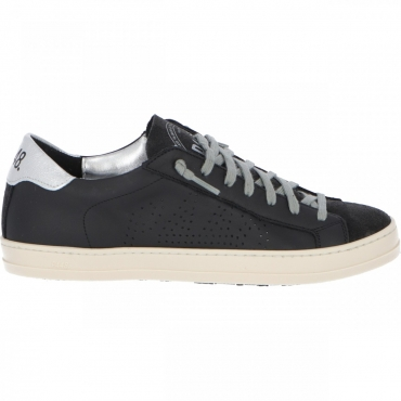 Scarpa P448 Donna John Blk Silver Made In Italy