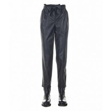 Pantaloni in eco pelle Mijci003 nero