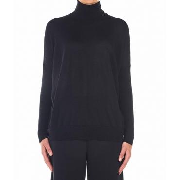 Maglione leggero in lana vergine nero