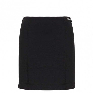 Minigonna nera con fascia logata 1200