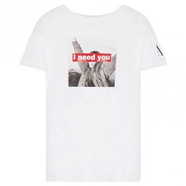 T-shirt con scritta e stampa 5955
