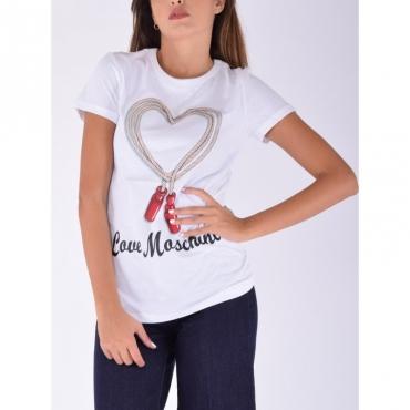 T-shirt corda con logo BIANCO