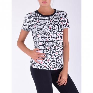 T-shirt animalier logata BIANCO/NERO/ROSSO