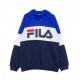 FELPA CAPPUCCIO NIGHT BLOCKED HOODIE DAZZLING BLUE/BLACK IRIS/BRIGHT WHITE