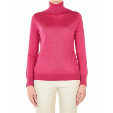 Maglione a dolcevita pink