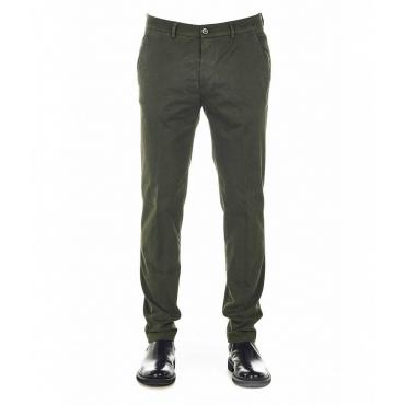 Pantaloni chino con struttura Marais verde scuro