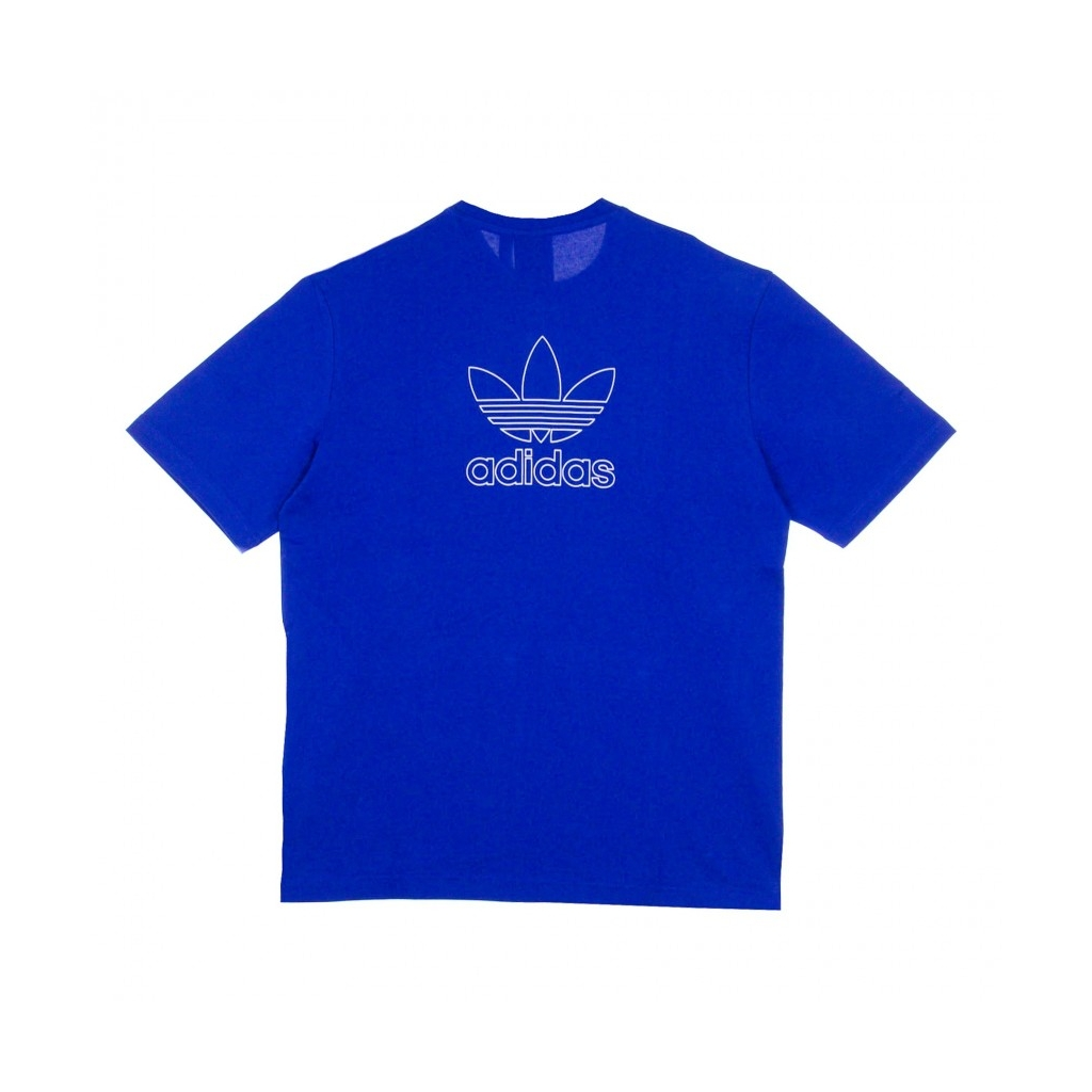 MAGLIETTA BACK AND FRONT TREFOIL TEE ROYAL BLUE/WHITE