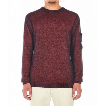 Maglia di lana con struttura rosso