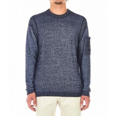 Maglia di lana con struttura blu scuro