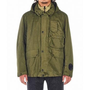 Parka con inserto per giacca estraibile verde