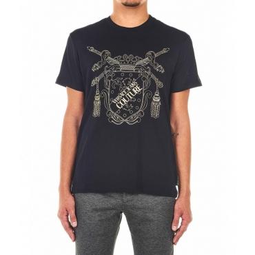 Maglietta con logo emblema nero