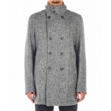 Cappotto con inserto giacca rimovibile grigio