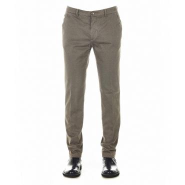 Pantaloni chino con struttura Marais tortora