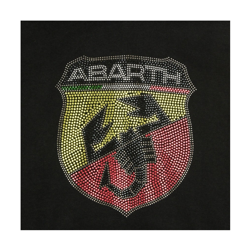FELPA CAPPUCCIO ABARTH STUD HOODIE BLACK