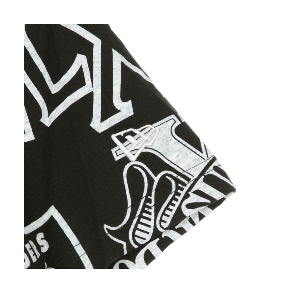 MAGLIETTA NFL RAIDERS ALL OVER PRINT SHORT SLEEVE TEE OAKRAI BLACK/ORIGINAL TEAM COLORS