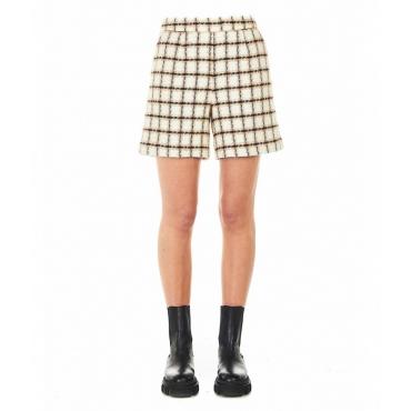 Shorts in Boucl bianco