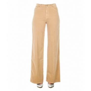 Pantaloni con gamba larga Lotta beige
