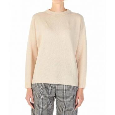 Maglione a maglia beige