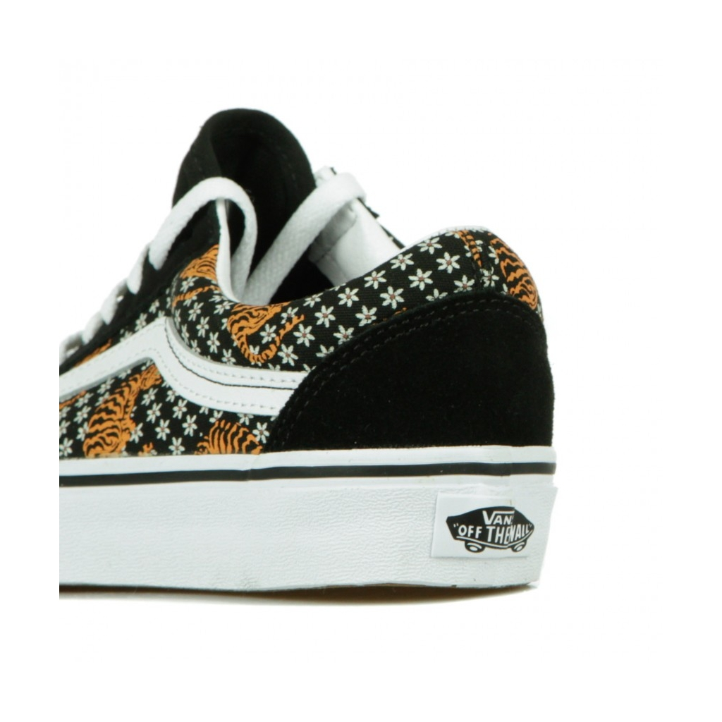 SCARPA BASSA OLD SKOOL TIGER FLORAL BLACK/TRUE WHITE