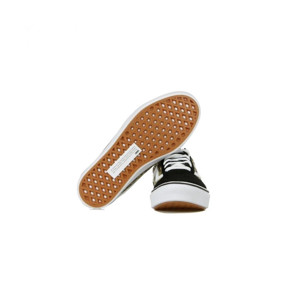 SCARPA BASSA COMFYCUSH OLD SKOOL LEOPARD BLACK/TRUE WHITE