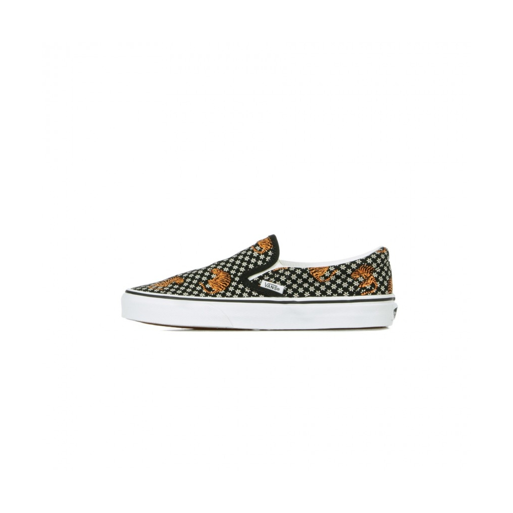 SCARPA BASSA CLASSIC SLIP-ON TIGER FLORAL BLACK/TRUE WHITE