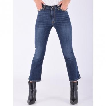 Jeans trombetta lavato BLU SCURO