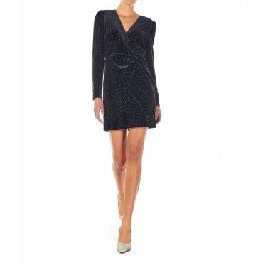 Vestito mini con dettagli borchie nero