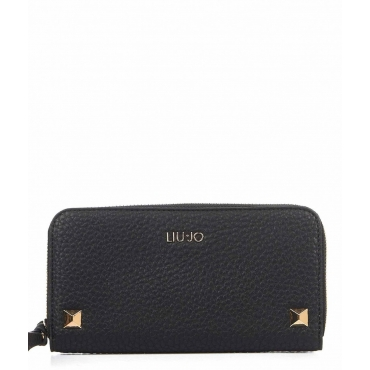 Wallet with studs nero
