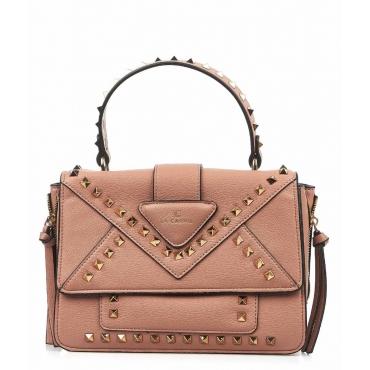 Handtasche mit Nietendetails Rosa