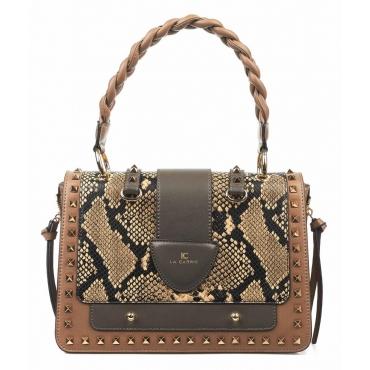 Tasche mit abnehmbarer Clutchbag Michelle pyton Tortora