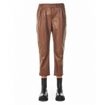 Pantaloni in similpelle Carteland marrone