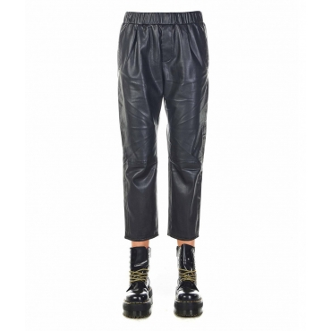 Pantaloni in similpelle Carteland nero
