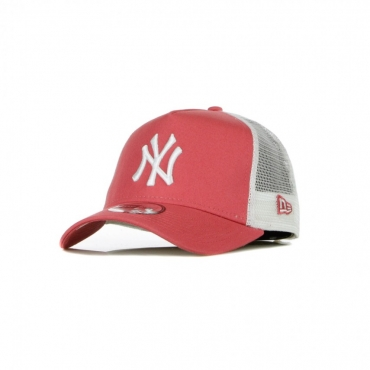 CAPPELLINO VISIERA CURVA MLB LEAGUE ESSENTIAL A-FRAME TRUCKER NEYYAN PINK LEMONADE/WHITE