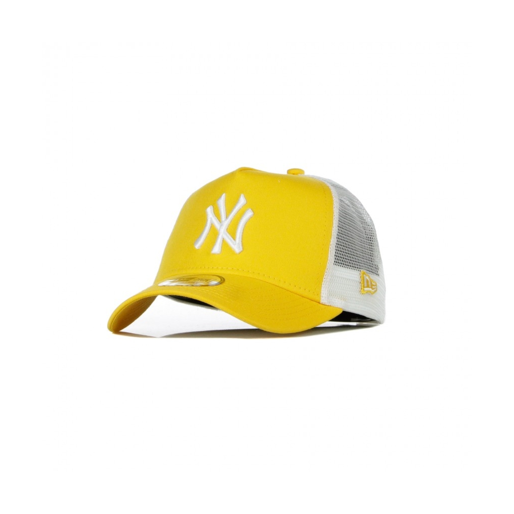 CAPPELLINO VISIERA CURVA MLB LEAGUE ESSENTIAL A-FRAME TRUCKER NEYYAN AUTHENTIC GOLD/WHITE